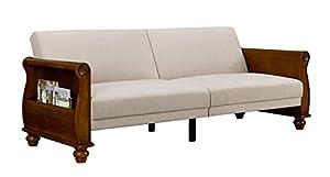 Amazon Com Dhp Frisco Upholstered Splitback Sofa Sleeper