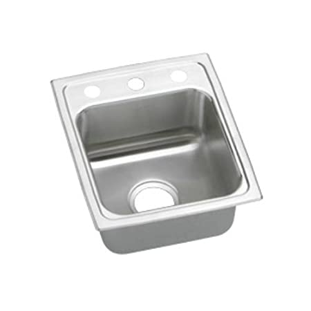 Elkao|#Elkay LRAD1316400 Elkay 18 Gauge Stainless Steel 13 Inch x 16 Inch x 4 Inch single Bowl Top Mount Kitchen Sink,