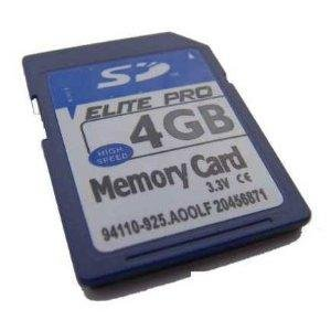 4GB SD Memory Card for Garmin Nuvi 200W 250W 255W 360T 370T 465T 650 670 765T 775T