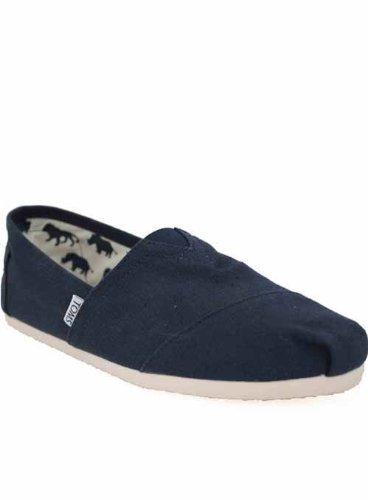 M809Nvy Toms Classic Shoes Mens Navy Espadrilles Canvas Pumps Uk Size 6 7 8 9 10 11 12