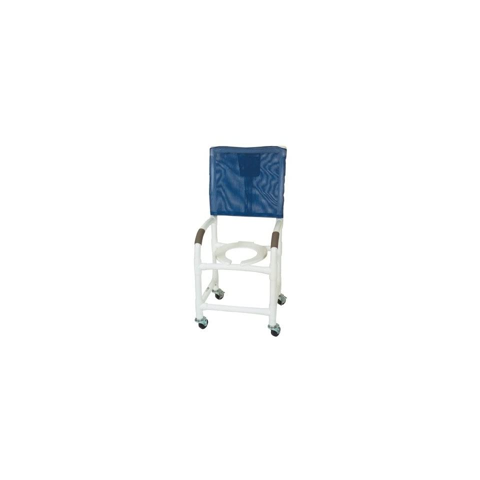 MJM International 118 3 H KIT Standard Deluxe Shower Chair with High Back and Optional Accessories