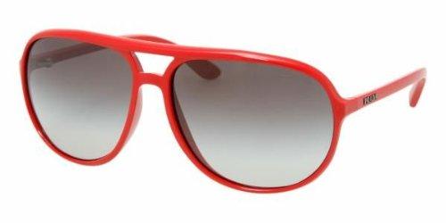 Prada Sunglasses SPR09M CORAL/GRAY GRADIENT 0BU3M1