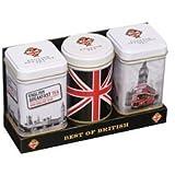 New English Teas Best of British Mini Tins Gift Pack Loose Tea 70 g (3 Gift Packs - 9 Mini Tins)