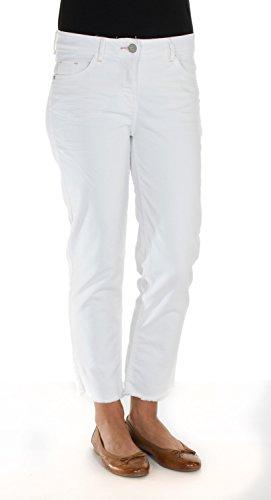 Cecil -  Pantaloni  - Donna white denim 27/26