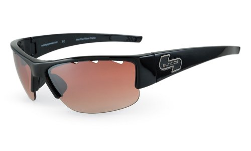 Sundog Bite sunglasses with Black Frame and Copper Flash Mirror Lens