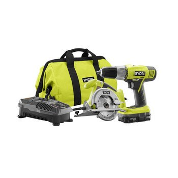 Great Deal! Factory-Reconditioned Ryobi ZRP825 ONE Plus 18V Cordless Lithium-Ion 2-Tool Starter Comb...