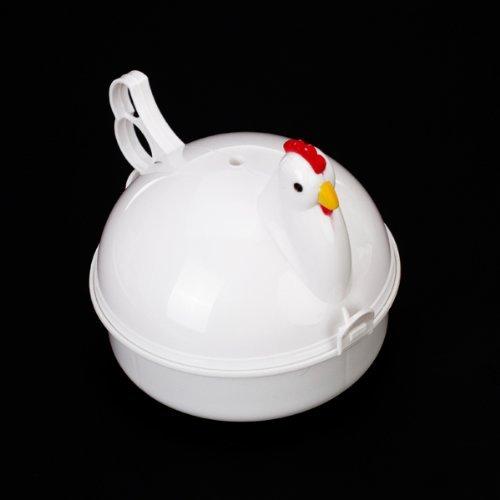 Chicken Shape Microwave Egg Poacher Boiler Steamer for 4 Eggs (Egg Cooker Chicken compare prices)