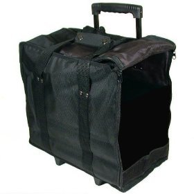 Jewelry Display Black Carrying Case w/ Wheels & Handle (Jewelry Making Case compare prices)