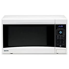 1.2 Cubic Foot Capacity 1000 Watt Countertop Microwave Oven - White(sold individuall)
