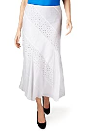 Per Una Pure Cotton Cut-Out Textured Skirt