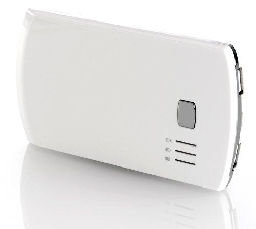 deleyCON Powerbank 5600 mAh USB Akku - externes Akku Ladegerät - für Handy, Smartphone, Tablet - [Weiß]