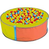 Ball Pit + bag of 100 multi-coloured plastic play balls