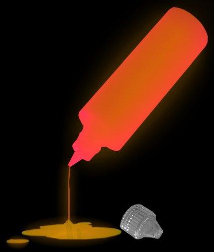 2 Bottles of Super Bright Glow In The Dark Paint (individual Colors) (Orange)