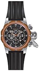 Invicta Men's Russian Diver Black Silicone Band Steel Case Quartz Analog Watch 21631