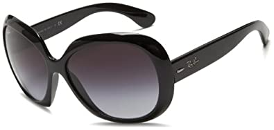 Ray Ban Women's Rb4098 Jackie Ohh Ii Black Frame/Grey Gradient Lens Plastic Sunglasses