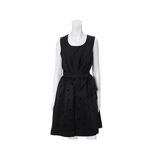 (クリアインプレッション)Clear Impression dress ドット柄スカートワンピース ブラック 02
