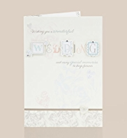 Floral Hearts Wedding Day Card