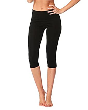 GIRL'S COTTON LYCRA CROP 3/4 LEGGINGS STRETCHY FOR CASUAL/SPORT/ACTIVE QUALITY LEGGINGS ***SAME DAY POSTAGE*** (3-4 YEARS, BLACK)