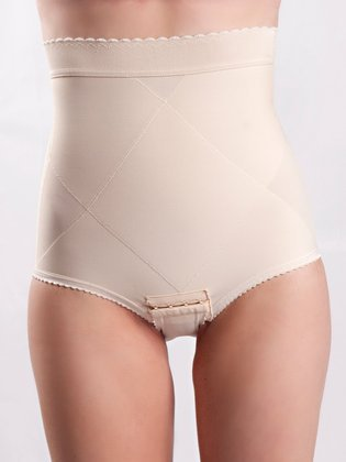 Peanut Shell Flats Post-Pregnancy Belly Compression Postpartum Girdle with Panel, Medium, Beige