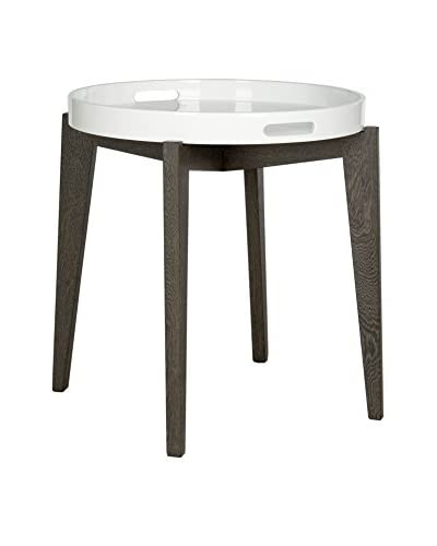 Safavieh Ben Side Table, White/Brown