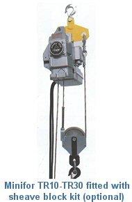 Tractel Minifor - Portable Electric Hoist W/ Unlimited Lift-660Lbs. Model Tr 30