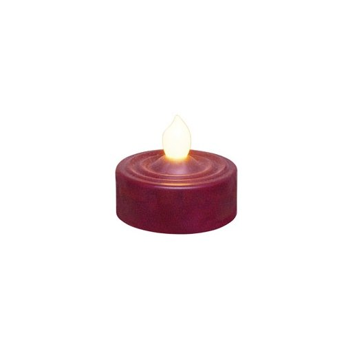 CWI Gifts 4-Piece LED Tealight Candle Set, Burgundy