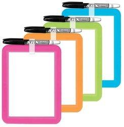 6Pk Boar 60046Va12 Dry Erase Plastic Frame Locker 5X7