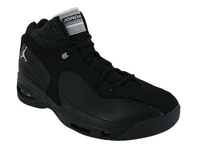 Nike Men's NIKE JORDAN HARDCOURT CLASSIC 1 BASKETBALL SHOES 8.5 (BLACK/WHITE/METALLIC SILVER)