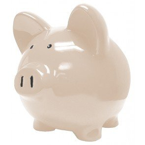 White navajo ceramic piggy banks 10 inch home kitchen - Extra large ceramic piggy bank ...