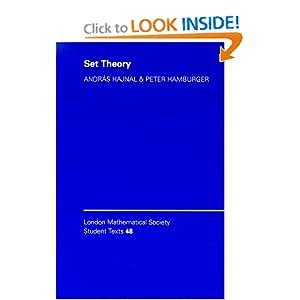 Set theory Andras Hajnal, Attila Mate, Peter Hamburger