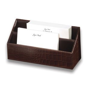 Buy Faux Croc Leather Letter Sorter Adds a Touch of Class to Any Writing Surface