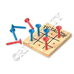 Wooden Tic Tac Toe Games - 1