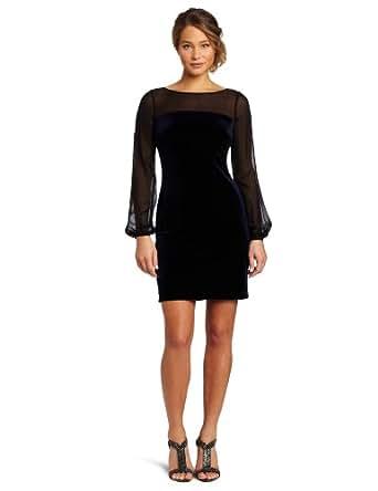 Donna Morgan Women's Quinn Dress, Midnite/Black, 10