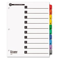 * 100% Recycled OneStep Index System, Multicolor 10-Tab, 11 x 8-1/2, 1 Set brand new universal one 100% recycled copy paper 92 brightness 20lb 8 1 2 x 11 white 5000 shts ctn