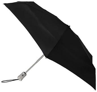 Totes Ladies Signature Micro Auto Open Auto Close Compact Umbrella, Black, One Size