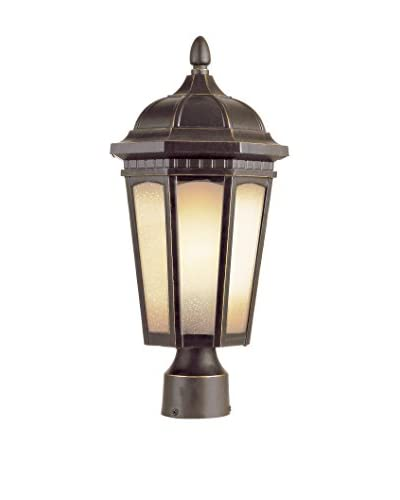 Bel Air Lighting Tea Chateau 17″ Post Mount, Weathered Bronze
