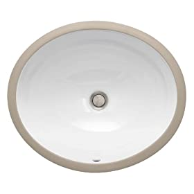 St. Thomas Creations 1062.000.01 Vanity Grande Round Undermount Lavatory Sink with Overflow, White Finish. Drain stopper not included.