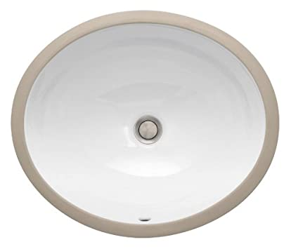 Marvelous St Thomas Creations Vanity Medium Round Undermount Lavatory Sink with Overflow
