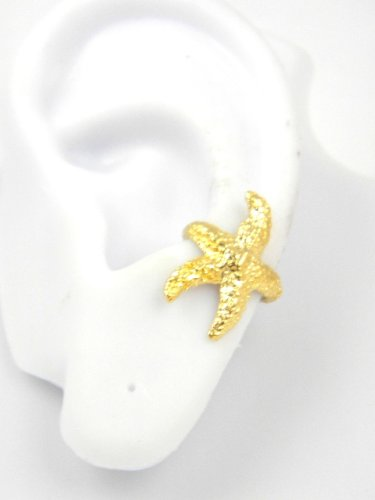 Gold Vermeil Starfish Ear Cuff Left Earring