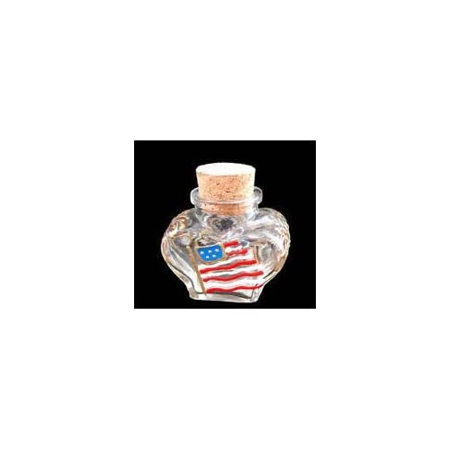 Small Heart Shaped Bottle With Cork Top 2 Oz 2 Tall Electronics