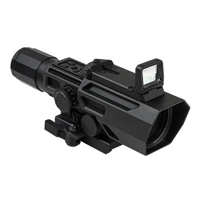 NC Star Ncstar Ado 3-9x42mmx 40mm, P4 Sniper Reticle with Flip Up Red Dot Optic, Black, One Size by Green Supply