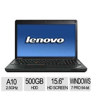 "Lenovo ThinkPad Edge E545 AMD Quad-Core A10-5750M 2.5GHz 500GB 4GB 15.6"""" (1366x768) DVD-RW BT WIN7/8 Pro Webcam BLACK"