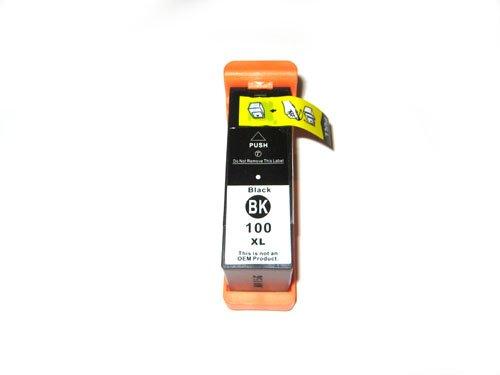 1x kompatible Druckerpatrone Lexmark 100 in Schwarz für Drucker Lexmark Pinnacle Pro 901 Hohe Kapazität