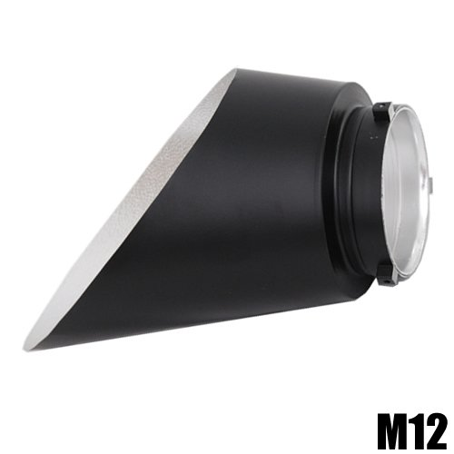 DynaSun M12 Beauty Dish Back Reflector for Monolight Flash with Bowens Speeding S Type Mount