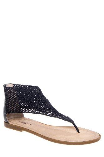 Lucky Brand Cropley Crochet Flat Thong Sandal