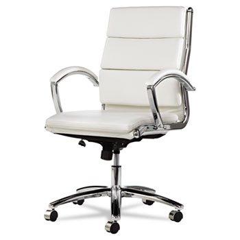 neratoli-mid-back-swivel-tilt-chair-white-faux-leather-chrome-frame