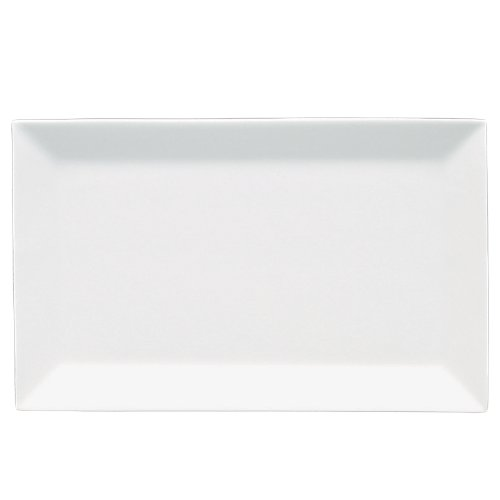 Fortessa Fortaluxe Superwhite Vitrified China Plaza 16 By 10-Inch Rectangular Tray