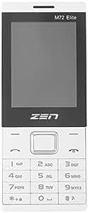 ZEN M72 elite Mobile Phone 1.3 MP Camera and 2.4 inch Screen White