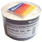 Ritek DVD+R D/L 8x 8.5GB Clear Hub IJP (50 Shrink)