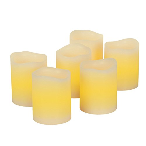 Kohree Real Wax Flameless Candles with Daily-Cycle Timer, Outdoor Battery Operated Led Candles Light - 6 Set Votive Candles, Warm White (Battery Votive Candles Timer compare prices)
